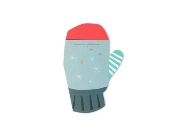 Weihnachtskarte Pleasedtomeet Gloves 11,5x15,5cm
