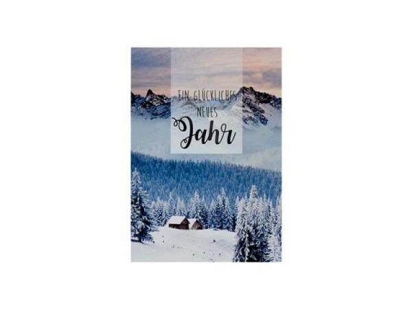 Neujahrskarte ABC Winterlandschaft 5Stk