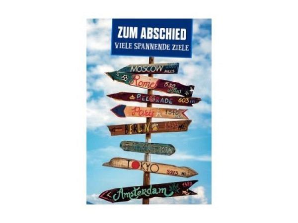 Abschiedskarte Bachmann Collecta Wegweiser 11,5x17cm B6