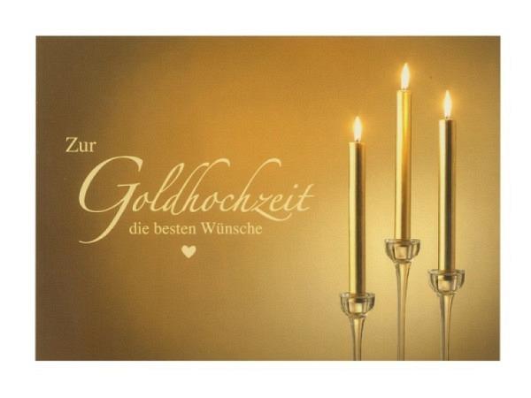 Karte Hartung Moments Glückwunschkarte Zur Goldhochzeit die besten Wünsche
