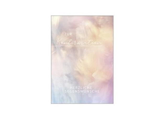 Konfirmationskarte Hartung Moments Pastell 12x17cm Doppelkarte