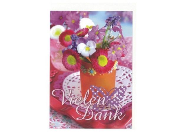 Dankeskarte Gollong Frühlingsblüten,12x17,1cm