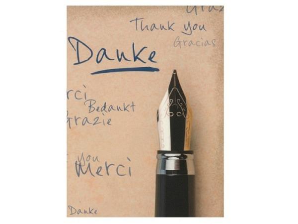 Dankeskarte Hartung Moments Danke, Thank you, Gracias, Merci