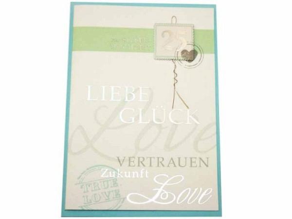 Glückwunschkarte Silberhochzeit silberne Hochzeit, Liebe…