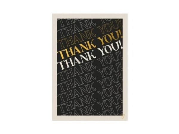 Dankeskarte Cart Danke 12x17cm, gemusterte Doppelkarte