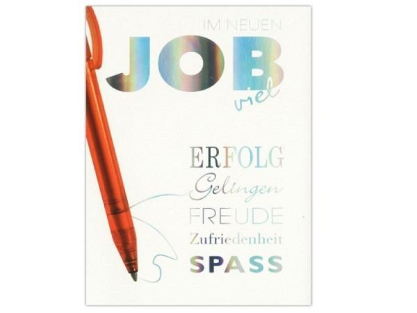 Karte ABC Im neuen Job viel Glück 12,5x17,5cm