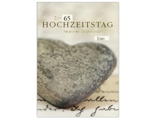 Karte ABC Hochzeitstag Stein-Herz mit Drehzahl 12,5x17,5cm