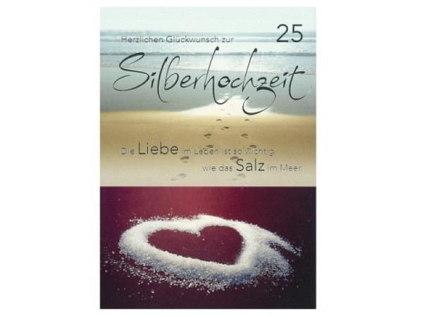 Karte ABC 25.Hochzeitstag Silberhochzeit Salz im Meer