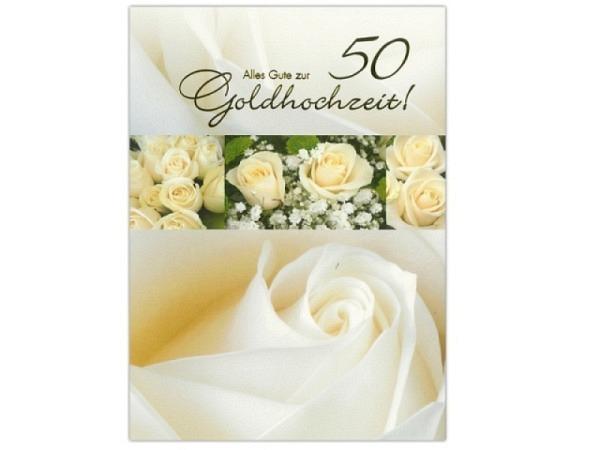 karte abc 50 hochzeitstag goldene hochzeit rosen