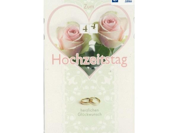 Karte Borer zum Hochzeitstag mit Drehzahlen 11,5x17cm