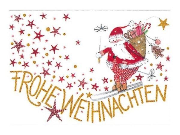 Postkarte Gollong Weihnachtskarte Frohe Weihnachten