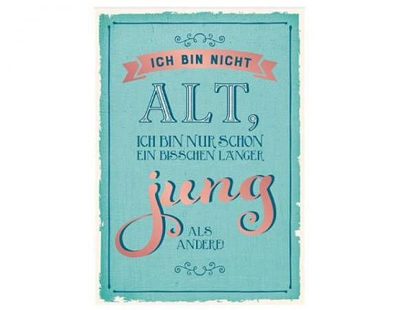 postkarte grafik werkstatt vintage art 12x17cm hoch