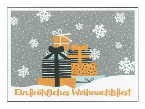 Postkarte Gollong Weihnachtskarte Päkchen im Schnee 10,5x14,8cm