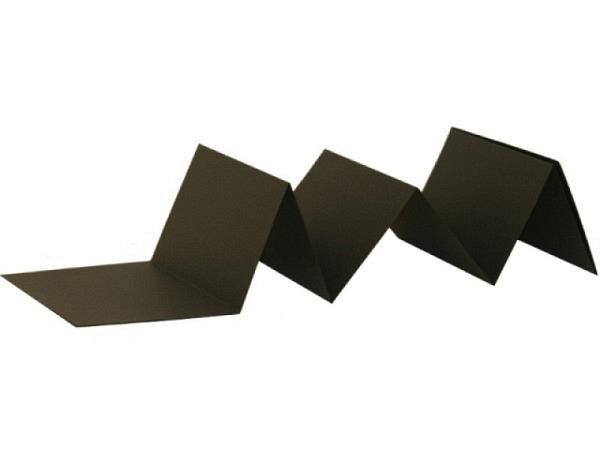 Leporello CP 12x16cm schwarzer Deckel, schwarze Seiten
