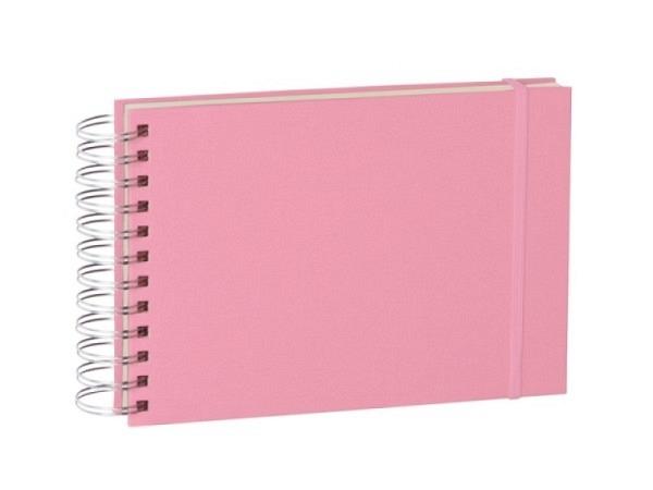 Fotoalbum Semikolon Mini Mucho Flamingo 25x16cm rosa Leinenbezug