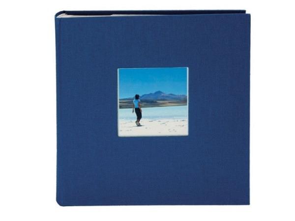 Fotoalbum Goldbuch Bella Vista Einsteckalbum blau Leinen