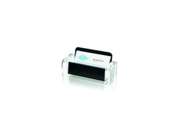 Visitenkartenhalter Wedo Akryl schwarz-transparenter Halter