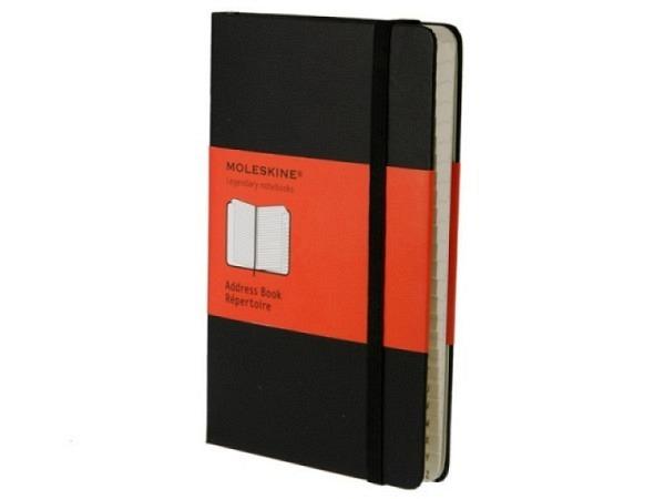 Adressbuch Moleskine Hardcover Pocket A6 schwarz