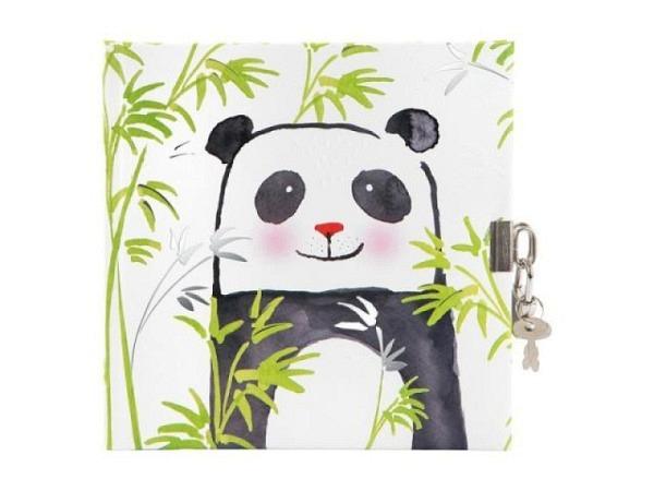 Tagebuch Goldbuch Turnowsky Panda mit Schloss