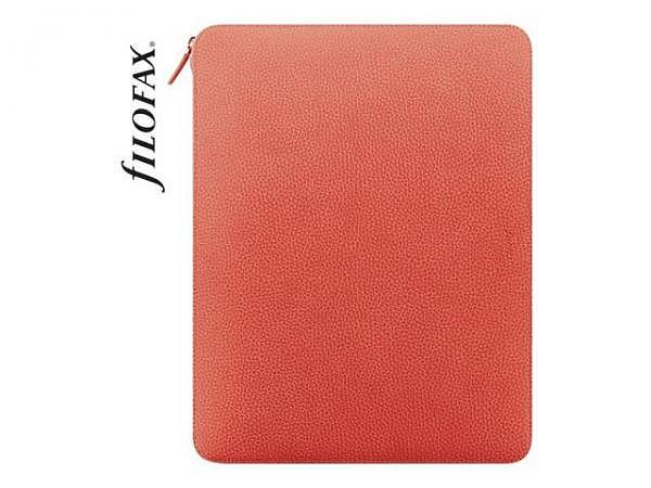 Blockmappe Filofax Finsbury A4 Folio Zipped Coral orange
