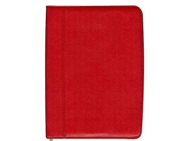 Schreibmappe Büroline A4 rot, mit Reissverschluss