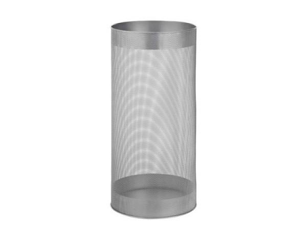 Papierkorb Alco rund aus Metall, stabile Ausführung silber