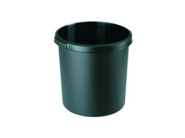 Papierkorb HAN Moon schwarz, 30 Liter, mit Griffmulde