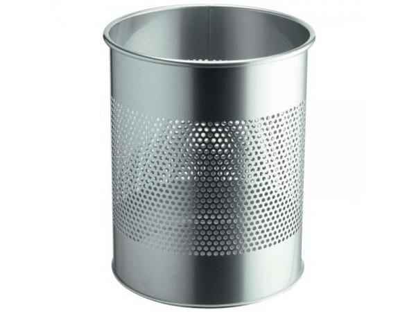 Papierkorb Durable Executive silber 15Liter aus Metall
