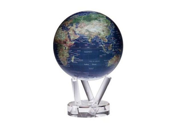 Globus Mova Globe Satellitenbild goldfarbener Beschr., 15cm