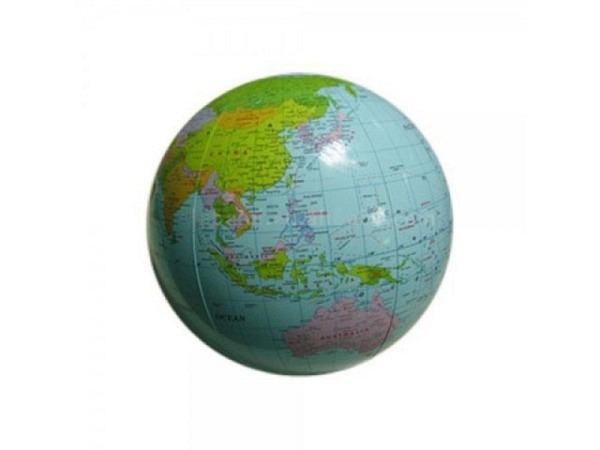 Globus aufblasbar politische Karte, transparent