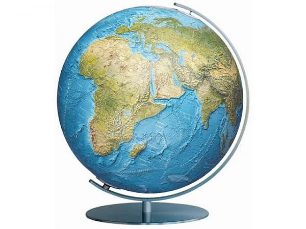 Globus Columbus Duorama 40cm Edelstahl-Fuss, Akrylglaskugel