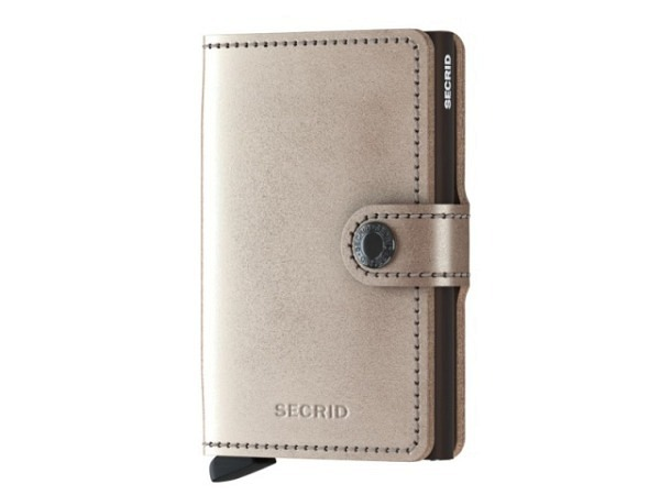 Kreditkartenetui Secrid Miniwallet Metallic Champagner Brown