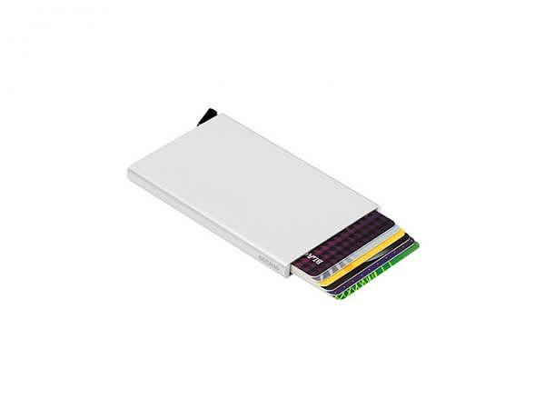 Kreditkartenetui Secrid Cardprotector silber Aluminium für 6 Karten, blockiert die Fernlektüre der Daten, wenn Ihre RFID-Karten (Radio Frenquency Identification) nicht in angebrachter Weise geschützt sind, können Sie von der Ferne aus via eines Kart..