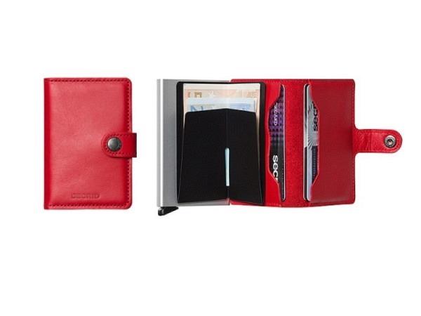 Kreditkartenetui Secrid Miniwallet original rot, Leder