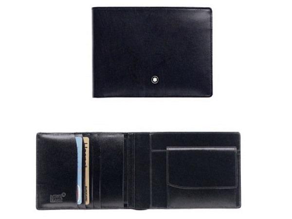 Portemonnaie Montblanc Meisterstück 4cc schwarz 10,5x9 quer