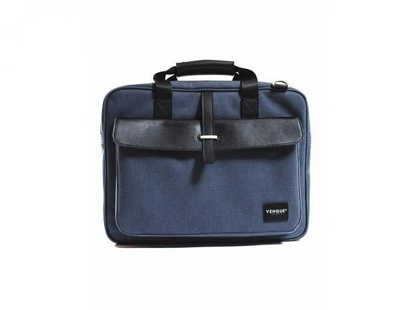 Tasche Venque AIX Pro Black Leather Edition blau