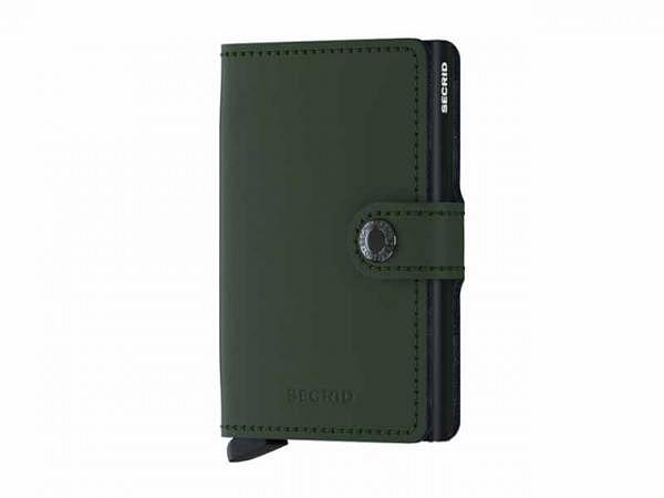Kreditkartenetui Secrid Miniwallet matte green