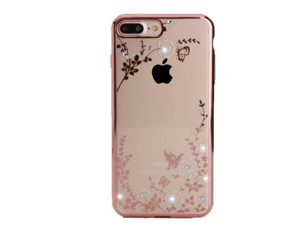 Handyhülle Blingmeister Rose Butterfly für Apple iPhone 8 Plus