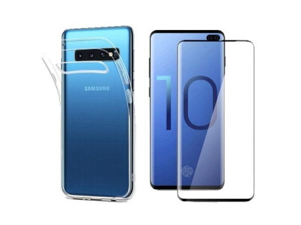 Handyhülle ArktisPRO Premium Safety Set für Samsung Galaxy S10 Case und Panzerglas