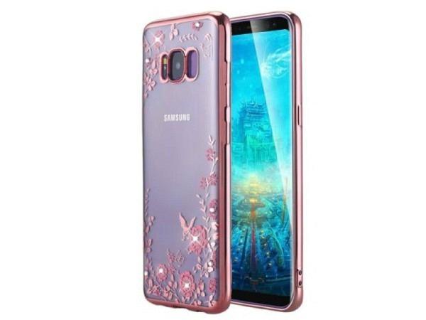 Handyhülle Blingmeister Rose Butterfly für Samsung Galaxy S8