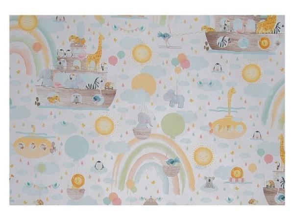 Geschenkpapier HOP Studio Pillah Art Deco green 50cm breit, 200m lang