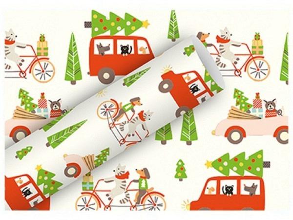 Geschenkpapier Braun+Company Kimono Mint 70cmx2m