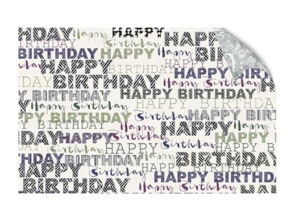 Geschenkpapier Coppenrath Nostalgische Weihnachten blau