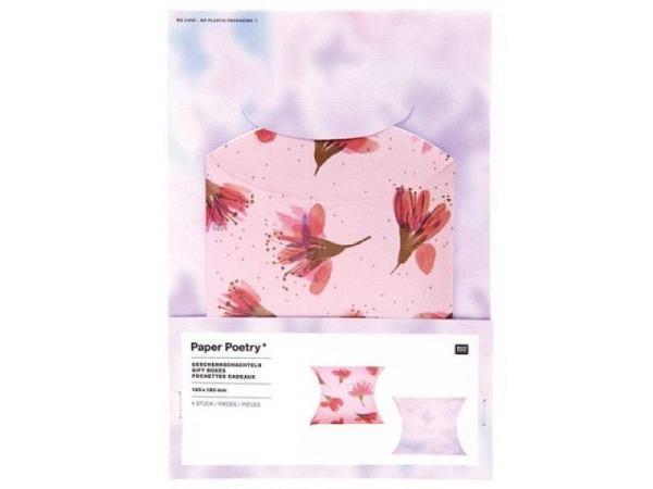 Geschenkfaltschachtel PaperPoetry Kirschblüten Blurry, zusammenklappbar, 4Stk. 12x18cm