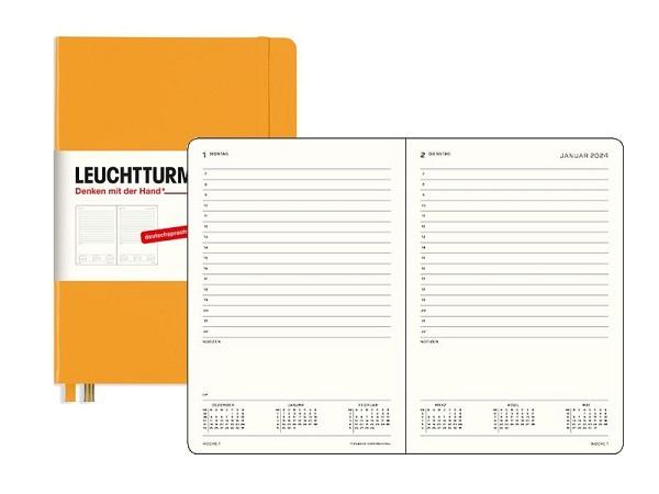 Agenda Moleskine Hardcover Pocket 1 Tag auf 1 Seite Reifes Gelb
