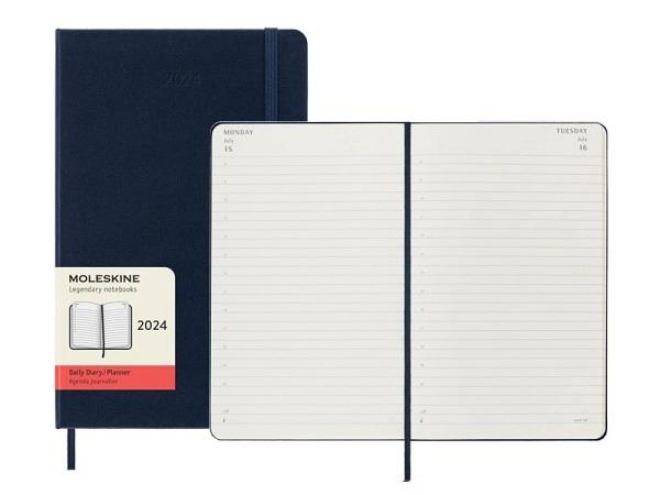 Agenda Moleskine Hardcover Large 1 Tag auf 1 Seite saphir, Hardcover
