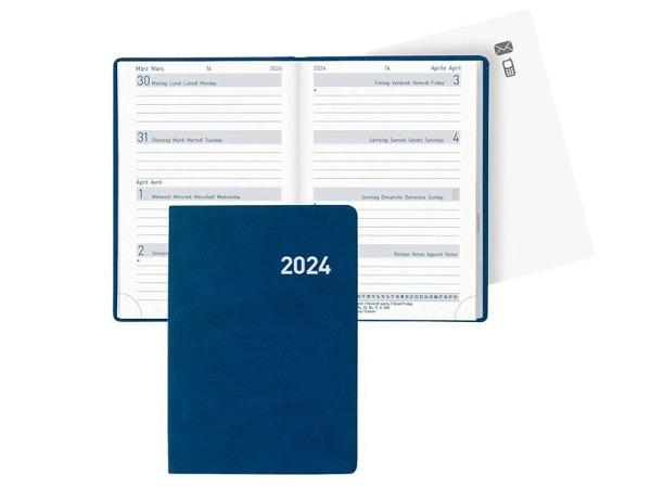 Agenda Biella Mittelformat blau 7Tage auf 2Seiten