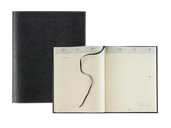Agenda Brepols Concorde Calpe schwarz, 7 Tage auf 2 Seiten