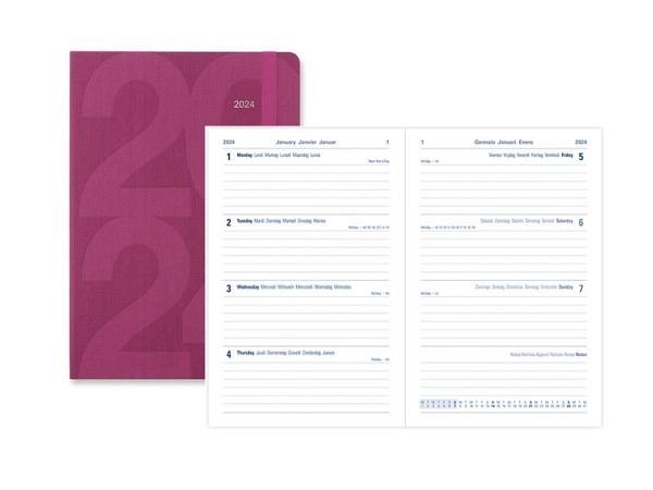 Agenda Letts Black A6 orange 7 Tage auf 2 Seiten