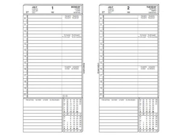 Agenda Greenwitc Ersatzeinlage Tagesblätter, 9,5x17cm
